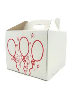Коробка для торта с печатью шары